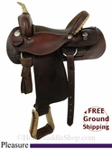 "15"" Used Dakota Pleasure Saddle usdk2837 *Free Shipping*"