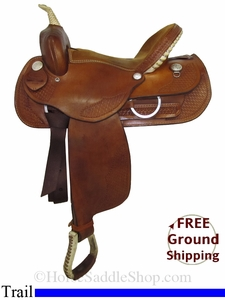 "SOLD 2014/06/16 $641.25 PRICE REDUCED! 15"" Used Dakota Trail Saddle, Wide Tree usdk2790 *Free Shipping*"