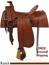 "SOLD 2014/12/16 $1800 15"" Used F.A. Manea Co. Ranch Saddle usme2911 *Free Shipping*"