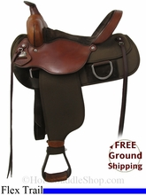 "SOLD 2014/07/01 $575 15"" Used Fabtron Lady Flex Trail Saddle, Wide Tree usfb2802 *Free Shipping*"