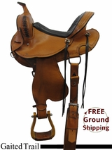 """SOLD 2015/09/23 15"""" Used Hedgepeth Gaited Trail Saddle, Wide Tree ushp3236 *Free Shipping*"""