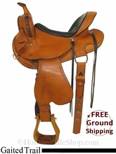 "15"" Used Hedgpeth Saddlery Gaited Trail Saddle, Wide Tree ushp2867 *Free Shipping*"