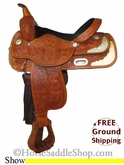 "SOLD 2014/02/18 $878.95 PRICE REDUCED! 15"" Used High Horse Show Saddle ushh2607 *Free Shipping*"