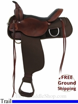 "15"" High Horse Lockhart 6910 Trail Saddle, Floor Model ushh2971 *Free Shipping*"