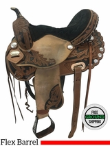 "15"" Used Hilason Medium Flex Barrel Racer ushi3659 *Free Shipping*"