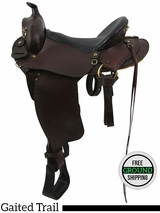 "SOLD 2016/05/25 15"" Used Imus Wide Gaited Trail Saddle 175 16 S usim3405 *Free Shipping*"