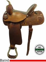 "SOLD 2016/04/06 15"" Used K Bar S Barrel Racing Saddle uskb3214 *Free Shipping*"