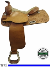 "PRICE REDUCED! 15"" Used Longhorn Trail Saddle uslh3229 *Free Shipping*"