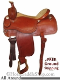 "PRICE REDUCED! 15"" Used Martin Saddlery All Around Saddle, Wide Tree uscu2600 *Free Shipping*"