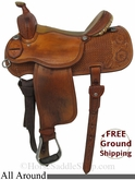 "15"" Used Martin Saddlery All Around Saddle, Wide Tree usms2856 *Free Shipping*"