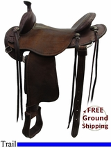 "15"" Used Martin Saddlery Trail Saddle usms3192 *Free Shipping*"