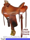 "15"" Used McCall Trail Saddle, Wide Tree usmc2599 *Free Shipping*"