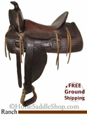 "PRICE REDUCED! 15"" Used Ranch Saddle uscu2555 *Free Shipping*"