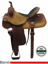 "15"" Used Reinsman Wide Barrel Saddle 4267 usrs3463 *Free Shipping*"