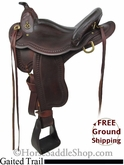 "15"" Used Rocking R Gaited Trail Saddle usrr2718 *Free Shipping*"