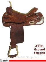"PRICE REDUCED! 15"" Used Saddlesmith Barrel Racing Saddle usss2927 *Free Shipping*"