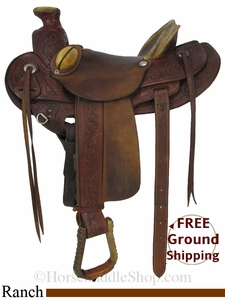 "SOLD 2014/06/28 $1050 15"" Used Saddlesmith Ranch Saddle usss2841 *Free Shipping*"