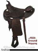 "15"" Used Simco Arabian Saddle, Wide Tree ussc2759 *Free Shipping*"