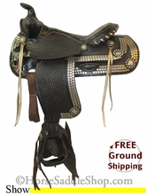 """PRICE REDUCED! 15"""" Used Simco Show Saddle ussc2623 *Free Shipping*"""