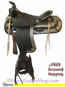 """SOLD 2014/11/24 $700 PRICE REDUCED! 15"""" Used Simco Show Saddle ussc2623 *Free Shipping*"""
