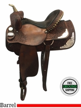 "15"" Used Snaffles Custom Wide Barrel Racer uscu3641 *Free Shipping*"