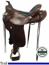 "16"" Used Southern Trail Saddles / Boweman Medium Trail Saddle usst3571 *Free Shipping*"