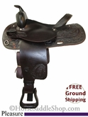 "SOLD 12/3/13 $712.50 PRICE REDUCED! 15"" Used Tex Tan Brahma Pleasure Saddle ustt2636 *Free Shipping*"