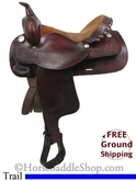"PRICE REDUCED! 15"" Used Tex Tan Hereford Trail Saddle ustt2727 *Free Shipping*"