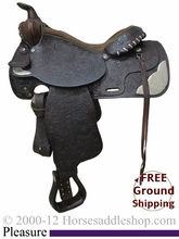 """SOLD 2014/07/07 $510 PRICE REDUCED! 15"""" Used Tex Tan Hereford Pleasure Saddle ustt2424 *Free Shipping*"""