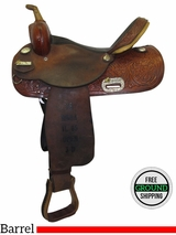 "15"" Used Tex Tan Medium Barrel Saddle 08NB87P5 ustt3482 *Free Shipping*"