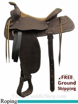 """SOLD 2015/03/26 15"""" Used Tex Tan Roping Saddle ustt2990 *Free Shipping*"""