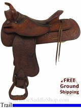 "15"" Used Tex Tan Trail Saddle ustt2943 *Free Shipping*"