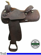 "15"" Used Tex Tan Trail Saddle ustt3073 *Free Shipping*"