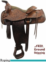"""OUT OF STOCK 2015/11/14 15"""" Used Texas Saddle Co. Roping Saddle usts3251 *Free Shipping*"""