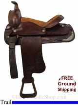 "SOLD 2014/12/22 $499 15"" Used Trail Saddle usun2812 *Free Shipping*"