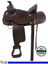 "SOLD 2016/05/04  PRICE REDUCED! 15"" Used Trail Saddle usun2944 *Free Shipping*"