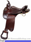 "16.5"" 17.5"" Tex Tan Kotula Trail Saddle 08-4011c"