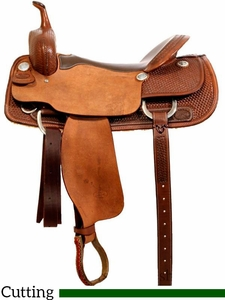 "** SALE ** 16"" to 17"" Billy Cook Pro Cutter Saddle 8940"