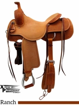 "** SALE ** 15"" to 17"" Circle Y Xtreme Performance Dodge Cowhorse Ranch Sorter Saddle 1389 w/Free Pad"