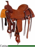 "16"" 16.5"" Martin Saddlery Ranch Cutter Saddle mr08MB"