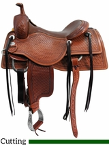 "** SALE ** 15"" to 17"" Martin Saddlery Working Cowhorse Saddle mr18B"