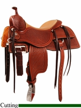 "16"" 16.5"" Martin Saddlery Working Cowhorse Saddle mr18S"