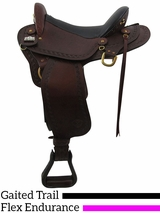 "** SALE ** 16"" to 18""  Big Horn Endurance Gaited Flex Saddle 1685"