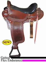 "16"" 17"" 18""  Big Horn Endurance Gaited Flex Saddle 1687"