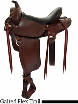 "16"" to 18""  Big Horn Western Flex Gaited Saddle 1686"