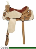 "** SALE **16"" 17"" American Saddlery Basket Weave Cutter Saddle am1975"