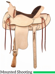 "** SALE ** 16"" 17"" American Saddlery Rough Out Shooter Saddle 946"