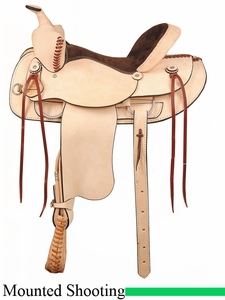 "16"" 17"" American Saddlery Rough Out Shooter Saddle 946"