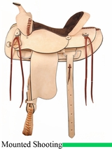 "16"" 17"" American Saddlery Rough Out Shooter Saddle am946"