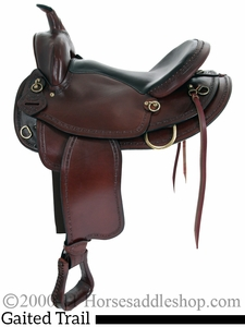 """16"""" 17"""" American Saddlery Texas Best Hill Country Trail II Saddle, Gaited 940G"""